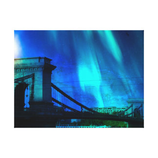 Cosmic Night in Budapest Canvas Print