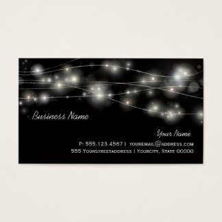 Cosmic Orbs and Stars Business Card