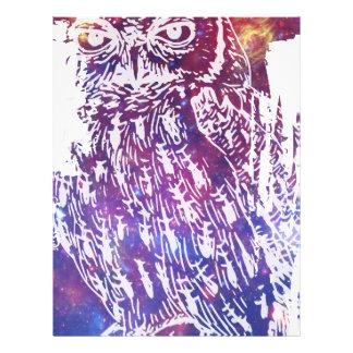 Cosmic Owl Custom Letterhead