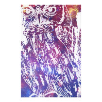 Cosmic Owl Stationery