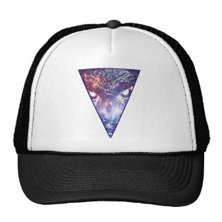 Cosmic Owl Triangle Mesh Hat