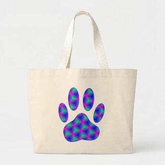 Cosmic Paw Print Large Tote Bag