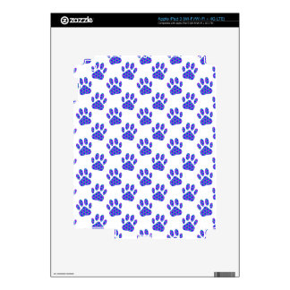 Cosmic Paw Print Pattern Skins For iPad 3