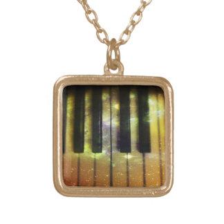 Cosmic Piano Square Pendant Necklace