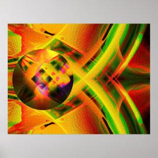 Cosmic pin ball poster
