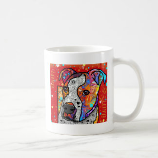 Cosmic Pit Bull - Bright Colorful - Gift Idea Coffee Mug