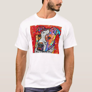 Cosmic Pit Bull - Bright Colorful - Gift Idea T-Shirt