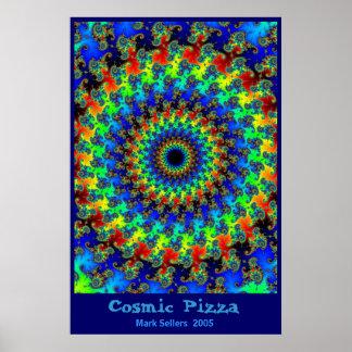Cosmic Pizza Poster