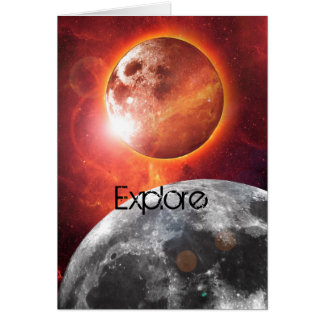 Cosmic Planets Explore Greeting Card