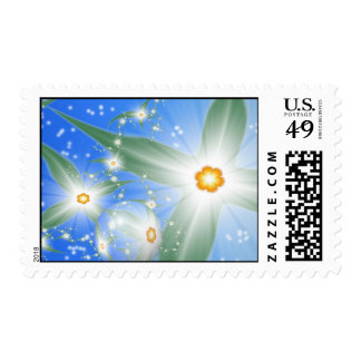 Cosmic Plant Life Postage Stamp