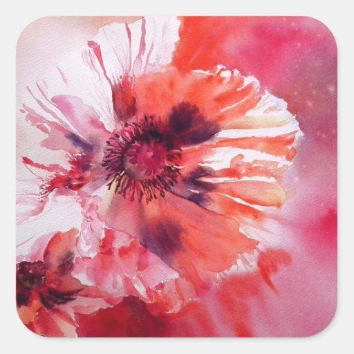 Cosmic Poppies Square Sticker