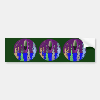 Cosmic Powers -  Moon and High Tides Bumper Sticker