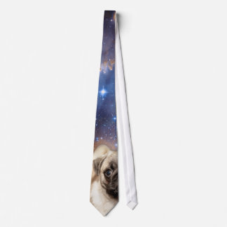 Cosmic Pug Puppy Outer Space Tie