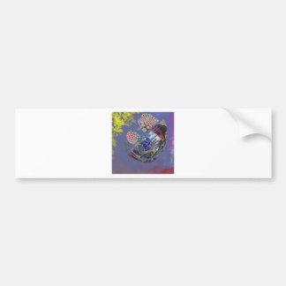 Cosmic Purple Fetus Fun Car Bumper Sticker