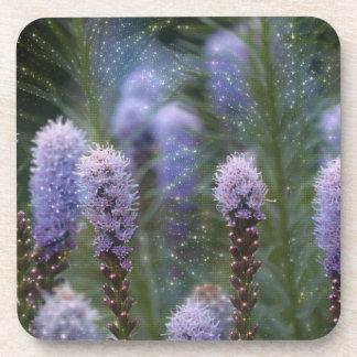 Cosmic Purple Flowers Drink Coaster