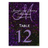 Cosmic Purple Monogram Table number