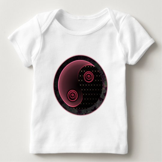 Cosmic Purple Yin Yang Baby T-Shirt