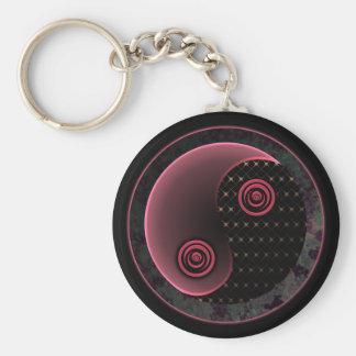 Cosmic Purple Yin Yang Keychain