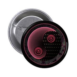 Cosmic Purple Yin Yang Pinback Button