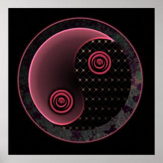 Cosmic Purple Yin Yang Poster