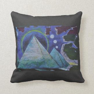 Cosmic Pyramid Throw Pillow