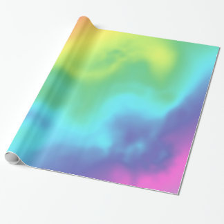 Cosmic Rainbow Abstract Wrapping Gift Wrap
