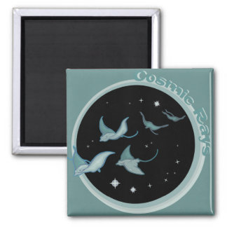Cosmic Rays 2 Inch Square Magnet