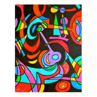 Cosmic Rays - Abstract Art Postcard