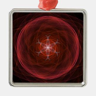 Cosmic Red Orb Metal Ornament