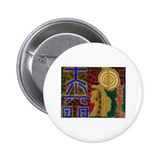 Cosmic Reiki Master Healing Art Symbols - TEMPLATE 2 Inch Round Button