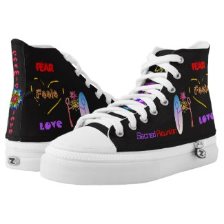 Cosmic Reunion: Fear Feels Love High Top Shoes