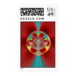 Cosmic Roulette Wheel Postage Stamps