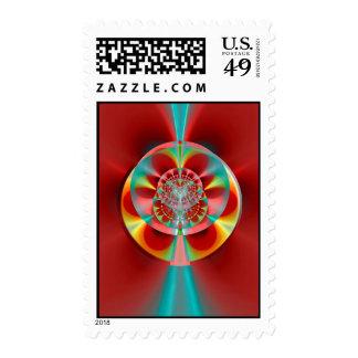 Cosmic Roulette Wheel Stamp