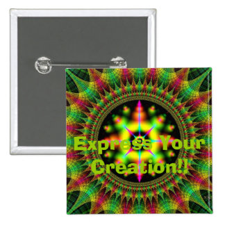 Cosmic Rug: Express Your Creation!! 2 Inch Square Button