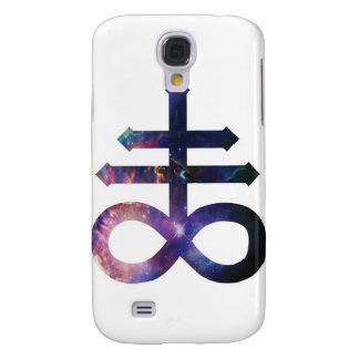 Cosmic Satanic Cross Galaxy S4 Cover