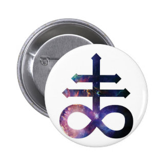 Cosmic Satanic Cross Pinback Button