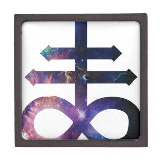 Cosmic Satanic Cross Premium Keepsake Boxes