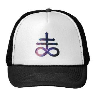 Cosmic Satanic Cross Trucker Hat