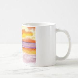 Cosmic Seaside Sunset Sunrise Beach Painting Art Coffee Mug