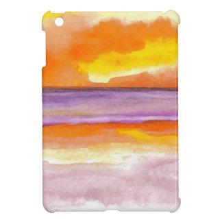 Cosmic Seaside Sunset Sunrise Beach Painting Art iPad Mini Cover