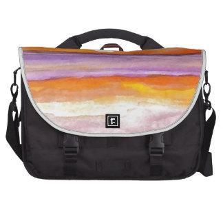 Cosmic Seaside Sunset Sunrise Beach Painting Art Laptop Messenger Bag