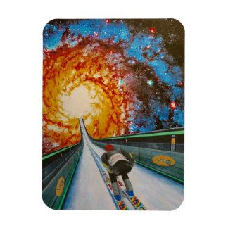 Cosmic Ski Jumper Fridge Magnet