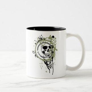 Cosmic Skull Two-Tone Coffee Mug