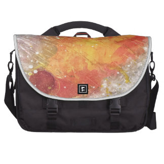 Cosmic sky with fireballs abstract painting laptop bags