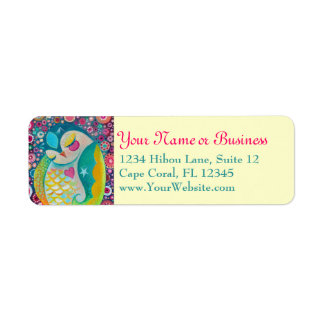 Cosmic Slumber - Sleeping Owl Custom Address Label