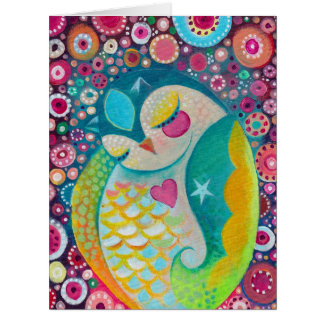 Cosmic Slumber - Sleeping Owl Custom BIG Card