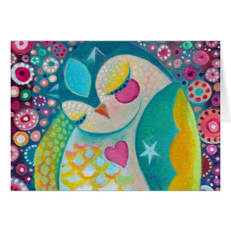 Cosmic Slumber - Sleeping Owl Custom Note Card