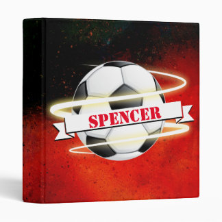 Cosmic Soccer Ball Personalized 3 Ring Binder
