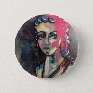Cosmic Space Portrait Pinback Button