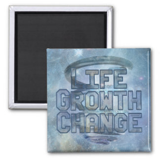 Cosmic Spiral Life Growth Change 2 Inch Square Magnet